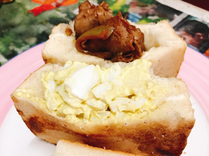 蘋果蛋沙拉&薑汁燒肉 吐司袋袋