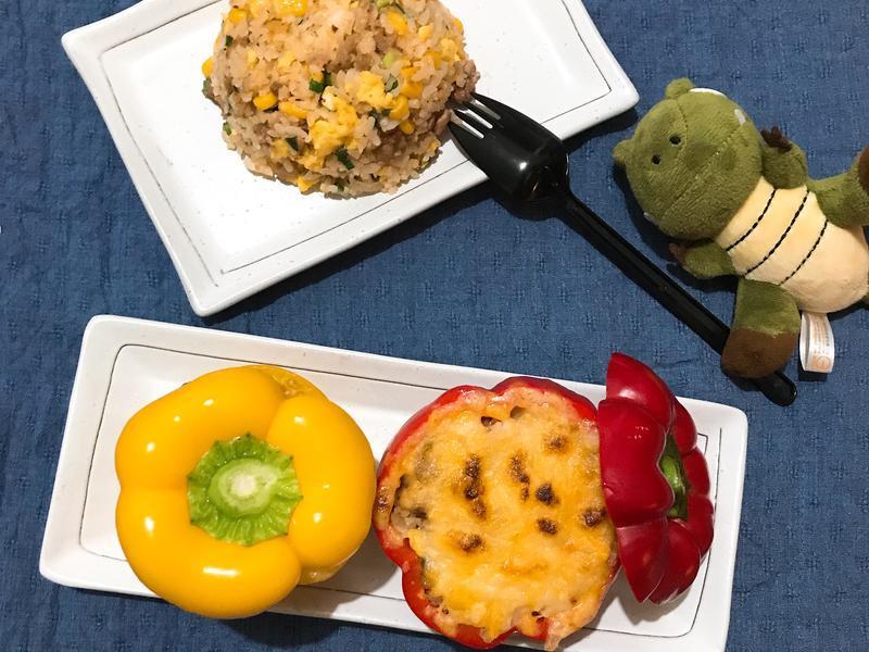 彩椒焗烤炒飯飯