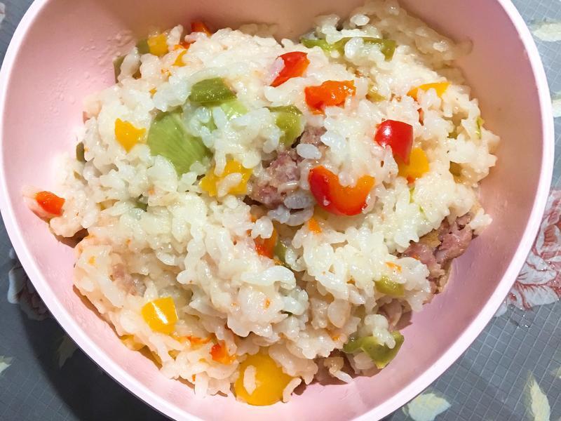 Twinbird麵包機 彩椒香腸燉飯