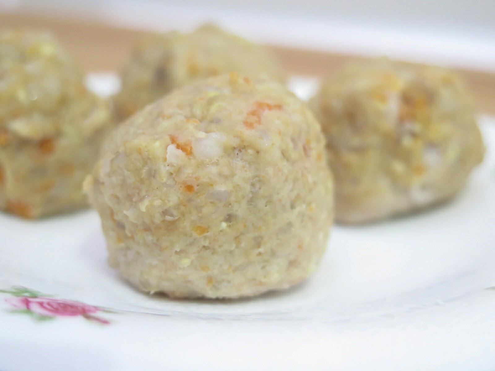 狗狗鮮食-糙米豬肉丸子