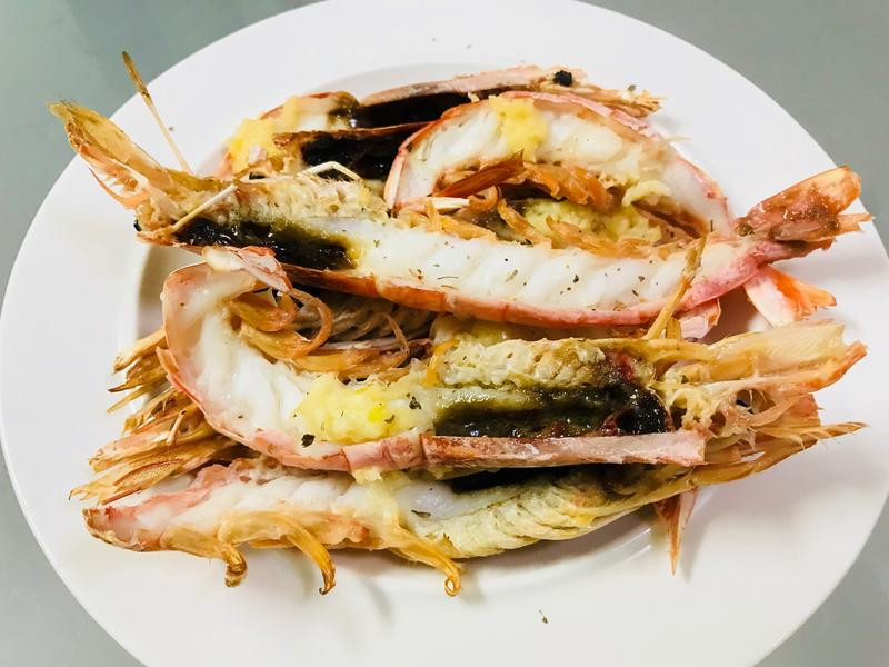 懶人料理:蒜香奶油天使紅蝦