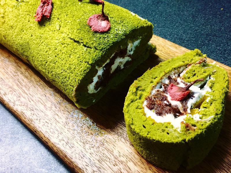 櫻花🌸宇治金時抹茶蛋糕捲