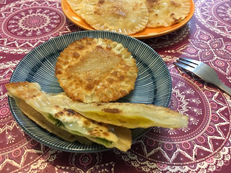 水餃皮變化料理(蔥餅、薯餅、年糕餅)