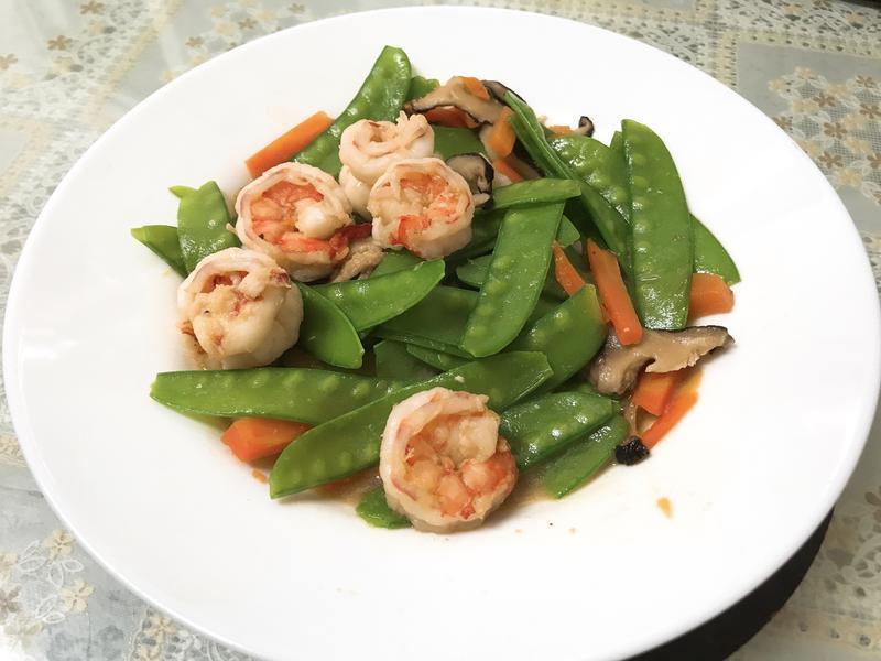 荷蘭豆炒鮮蝦