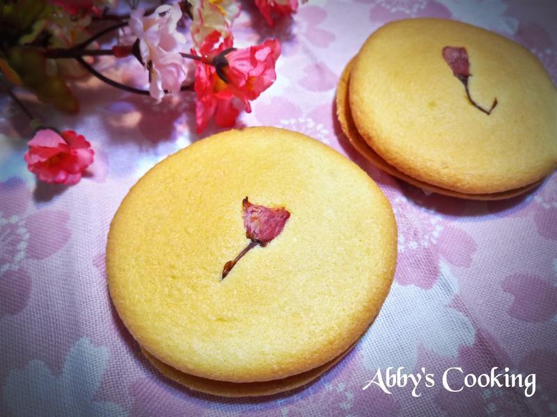 櫻花紅豆生乳夾心蛋糕