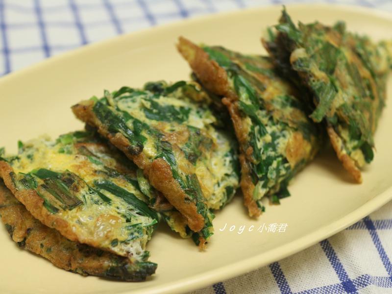 簡單蛋料理~蝦皮韭菜煎蛋(便當菜ok)