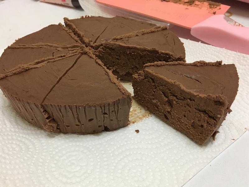 巧克力重乳酪蛋糕(無底部餅乾)