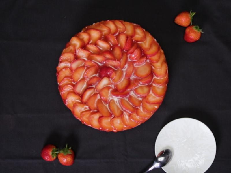 草莓生乳酪蛋糕(免烤箱)