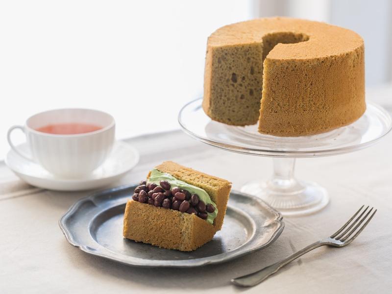 濕潤&輕柔口感抹茶口味戚風蛋糕
