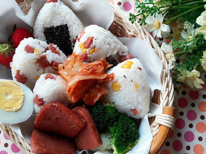 韓式午餐肉玉米飯糰