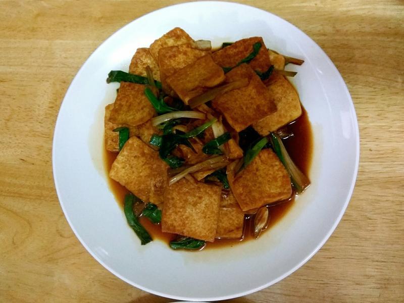 超級下飯之蔥燒豆腐