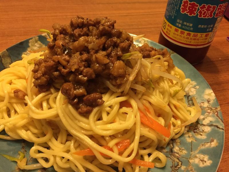 台中炒麵(肉燥炒麵)