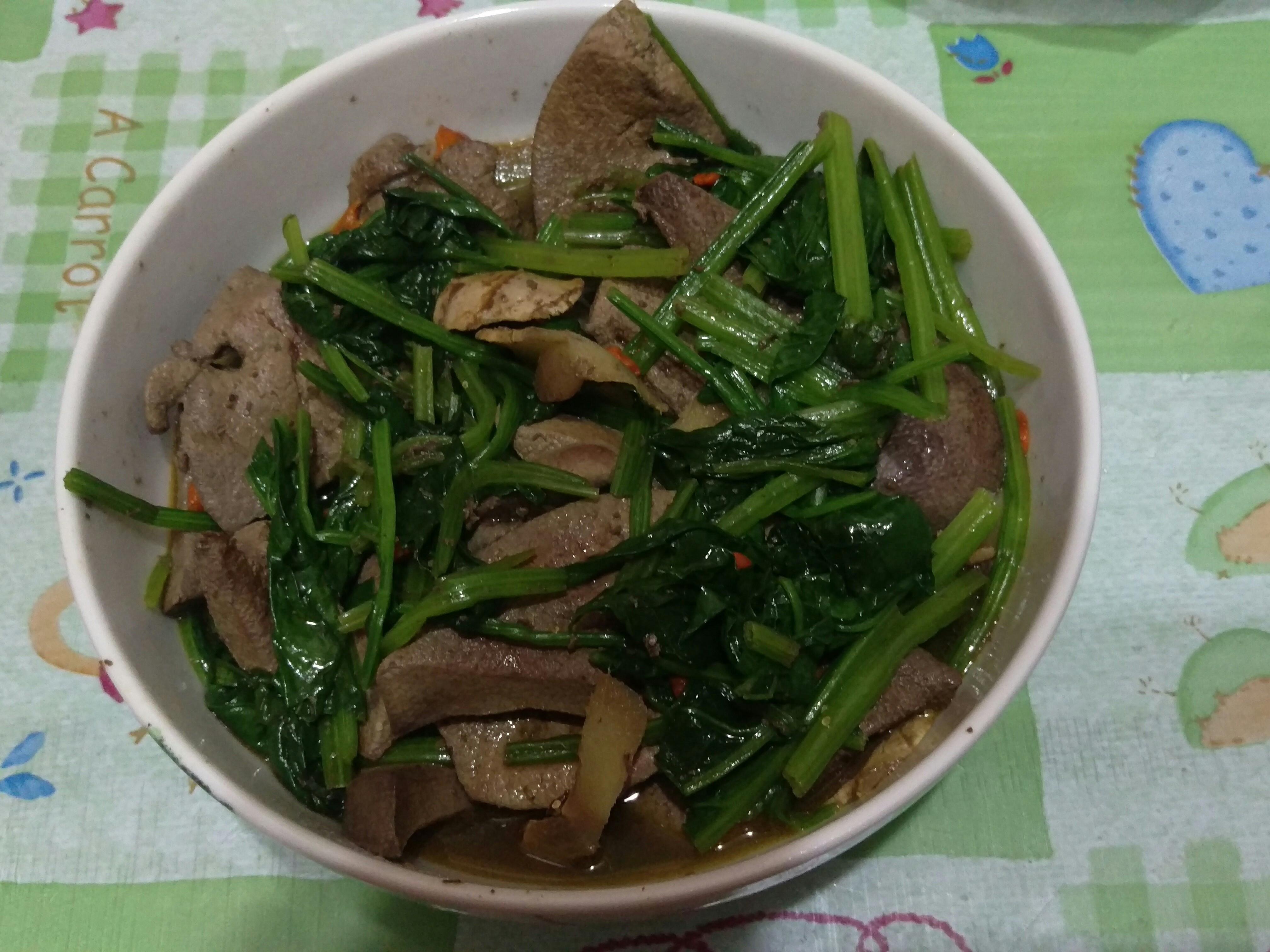 麻油波菜炒豬肝