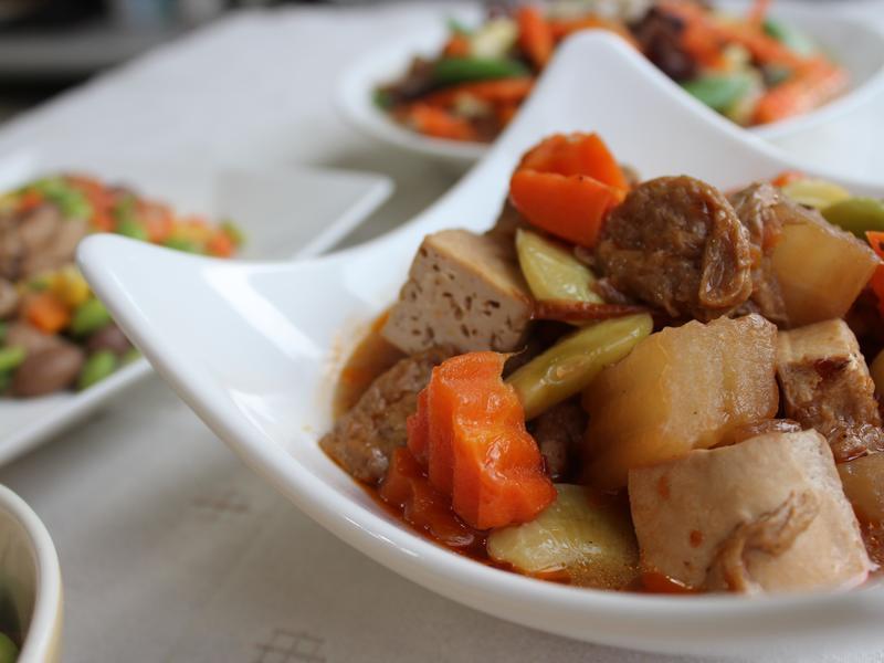 紅燒麵筋煮 #罐頭料理