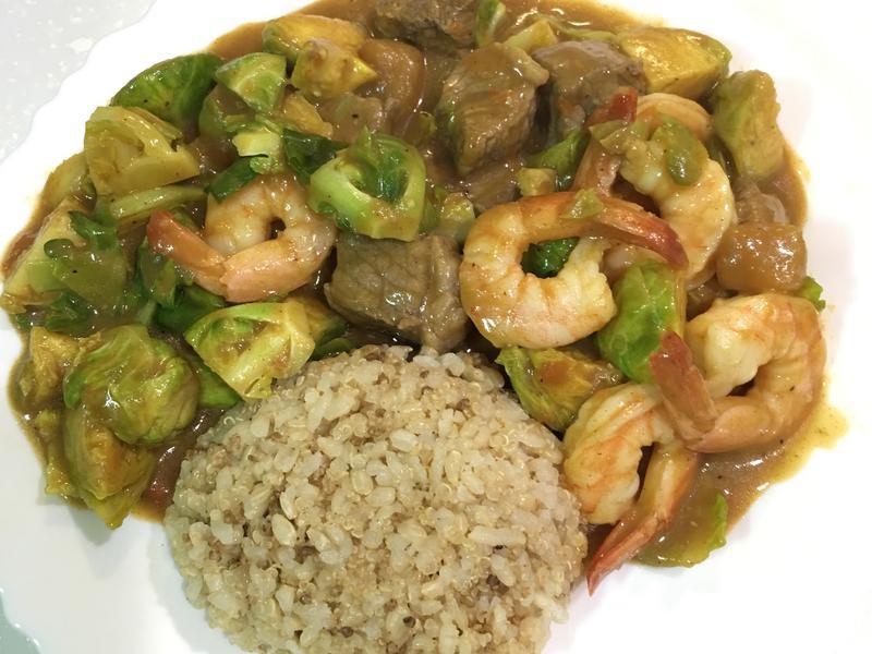 高蛋白「海陸蔬食咖喱飯」480卡