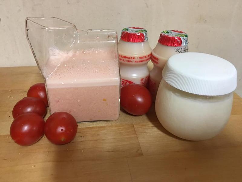 DIY蕃茄優格養樂多優酪乳,營養滿分!