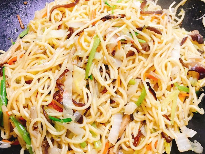 蔬菜炒麵~全素