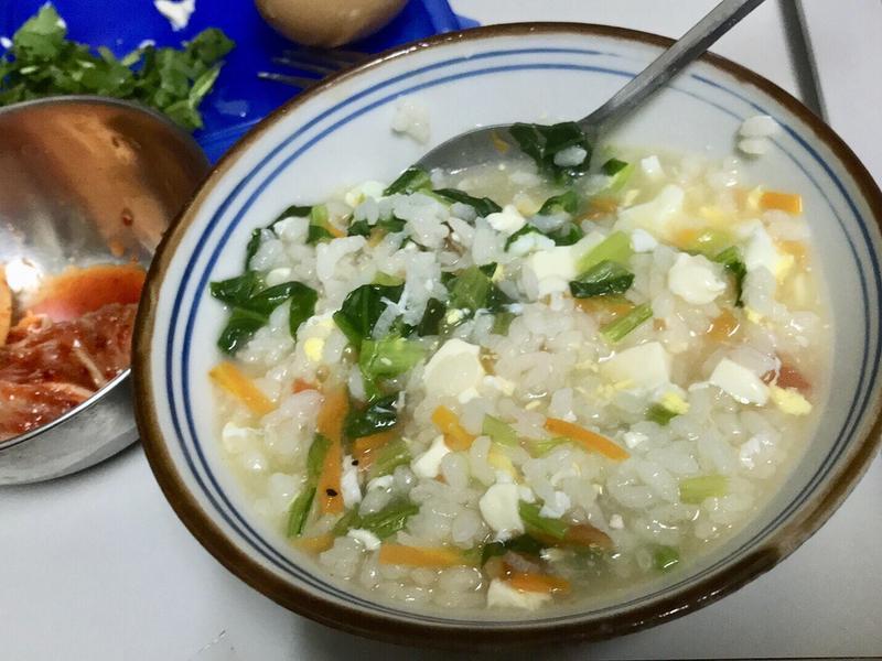 電子鍋料理-蔬菜粥