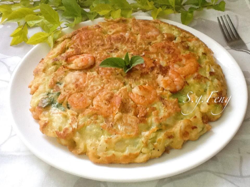 蝦仁高麗菜煎餅