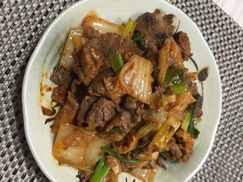 泡菜炒牛肉