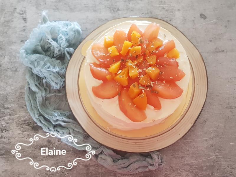 香緹蜜桃蘋果蛋糕