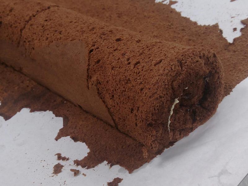 巧克力戚風蛋糕捲(烘焙課2)