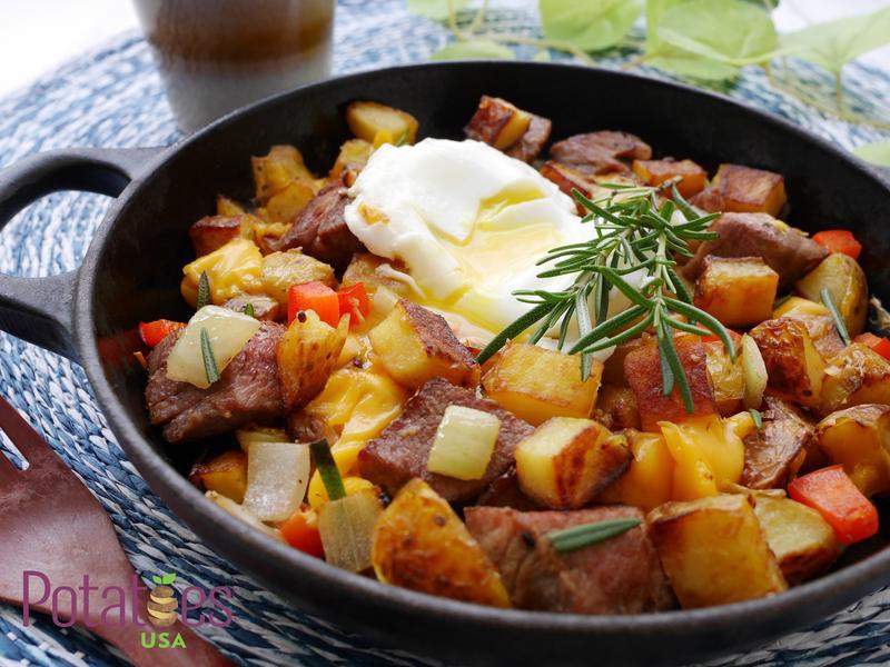 美國馬鈴薯~牛肉薯丁班尼迪蛋
