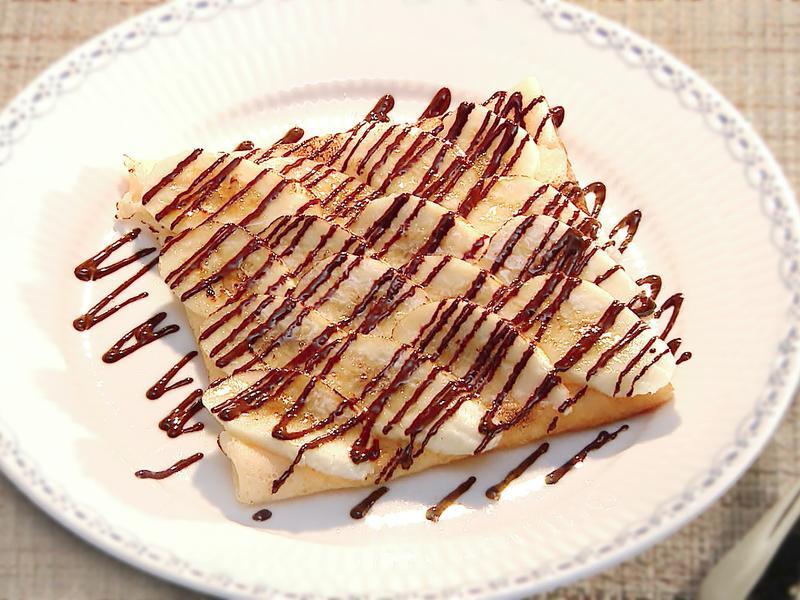 香蕉巧克力法式薄餅 | 家裡的小法國