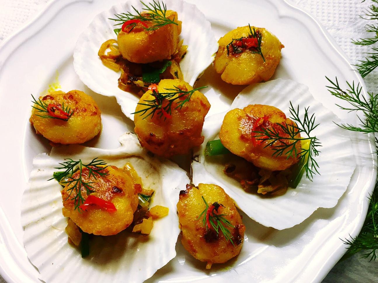 薑黃蒔蘿干貝