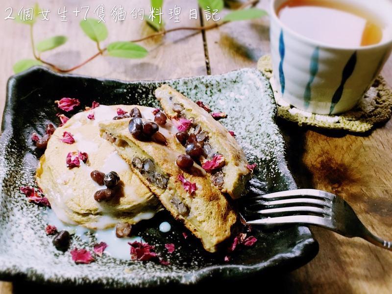 日式抹茶紅豆舒芙蕾鬆餅