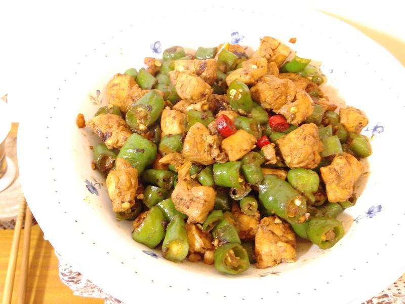 豆瓣青龍辣椒雞丁