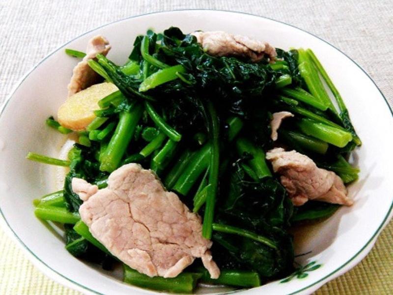 【健康美味】芥藍炒肉片