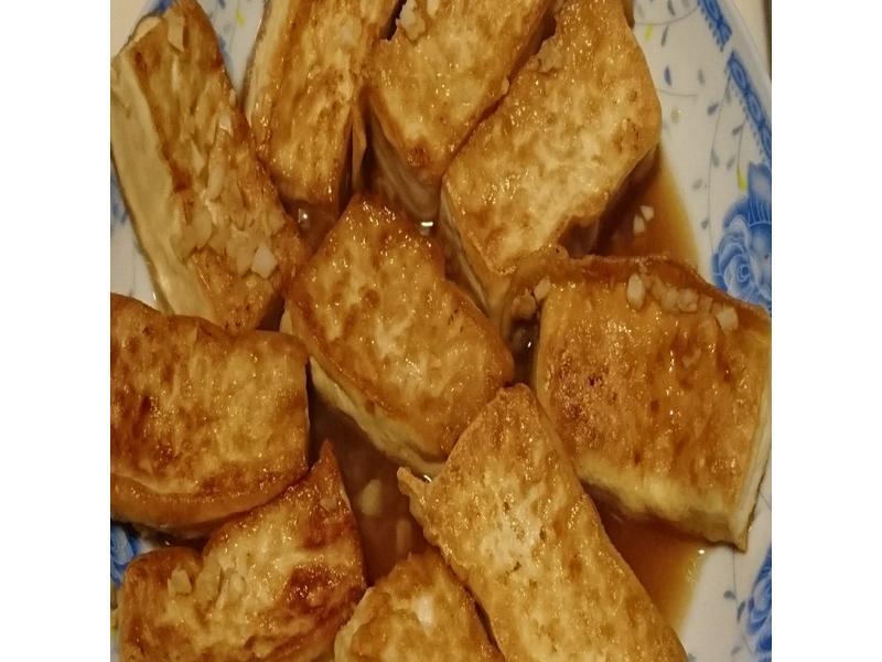 蒜香醬燒豆腐---$20
