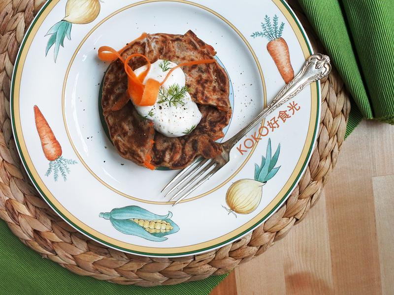 紅蘿蔔起司煎餅_護眼早餐