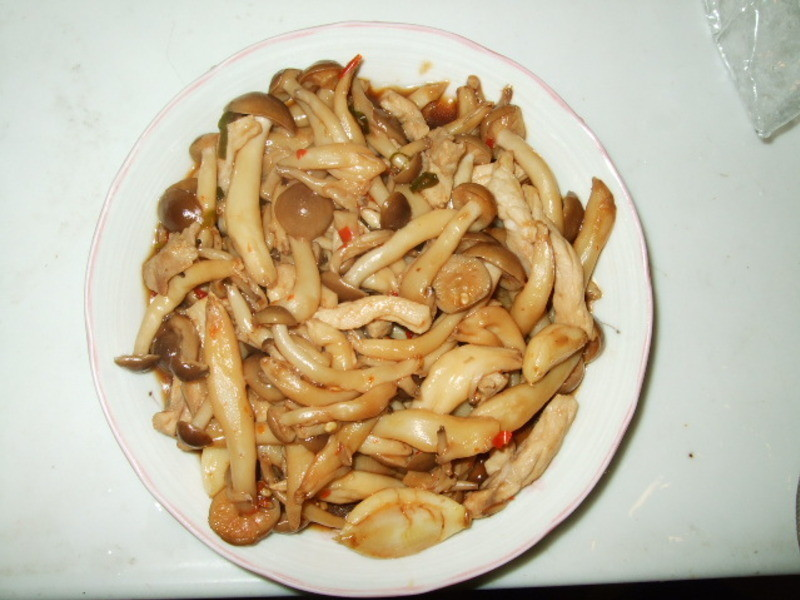 好菇道idea-懶人料理-鴻喜菇辣醬炒肉絲