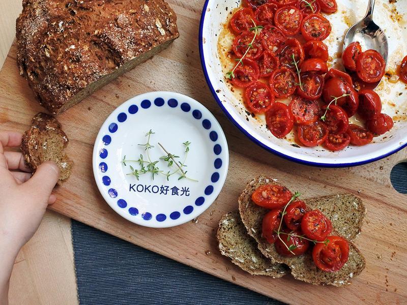 蒜香蜂蜜烤蕃茄_簡單義式開胃菜