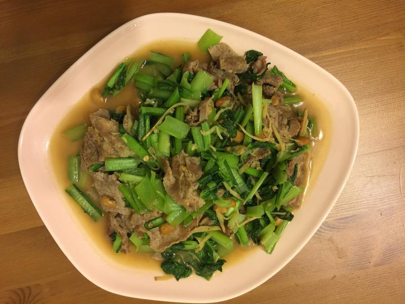 小松菜炒牛肉