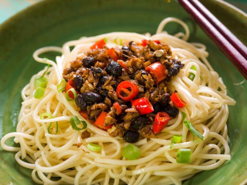 薑末豆豉炒辣椒(家常備醬)
