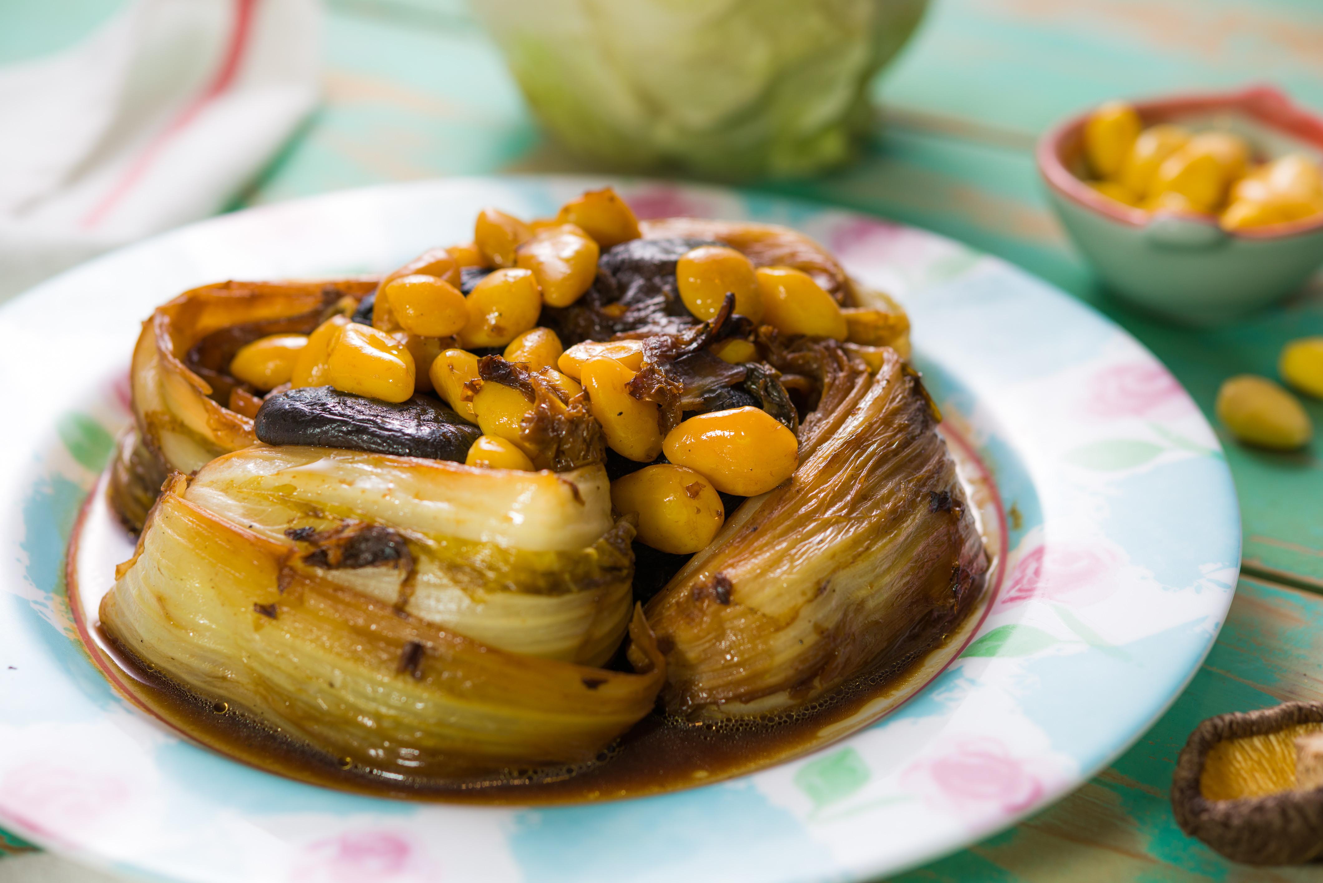白果㸆(ㄎㄠ)白菜