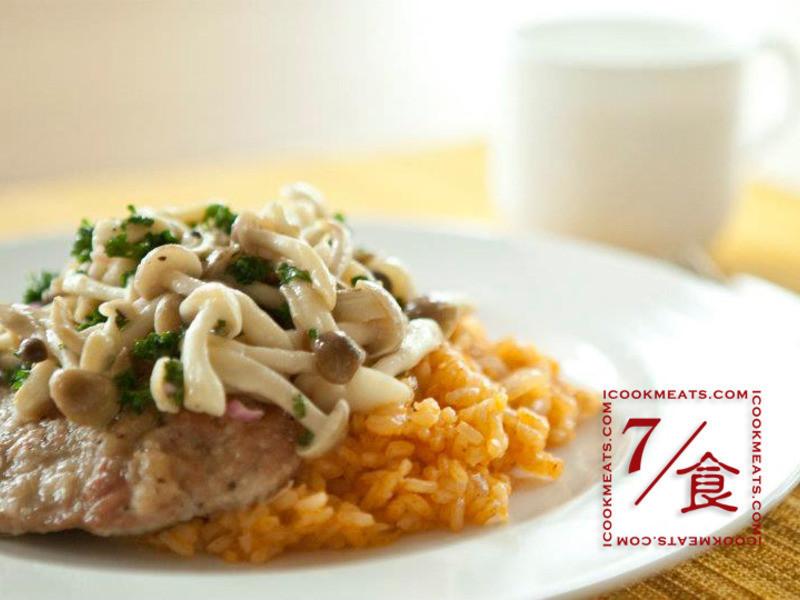 【7/食】炒菇豬排茄汁飯