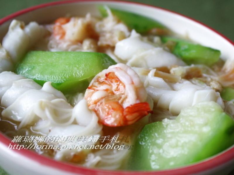 康寶鮮味炒手鰹魚風味~澎湖絲瓜海鮮麵線