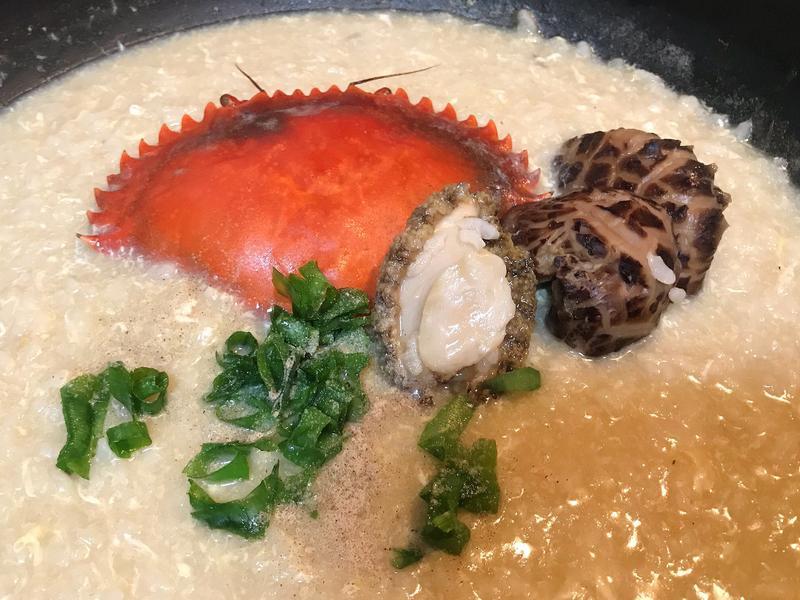 沙公鮑魚海鮮粥
