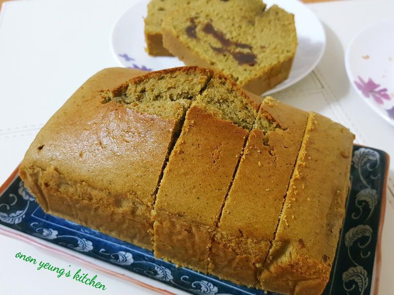 日式抹茶紅豆磅蛋糕