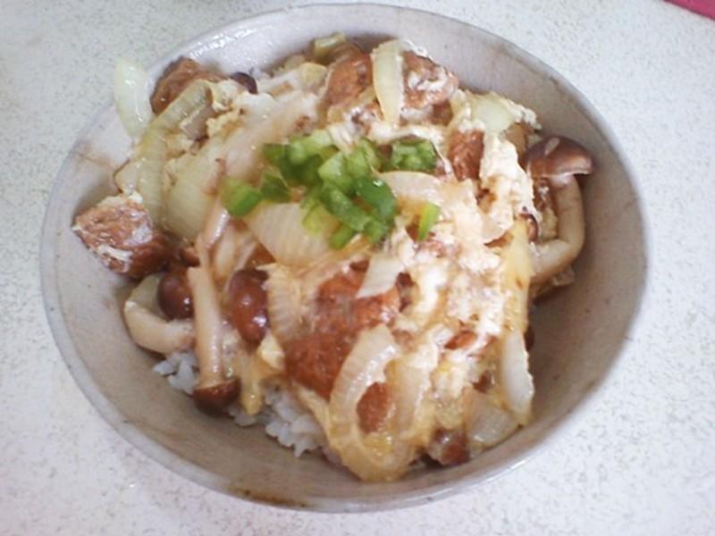 罐頭做日式滑蛋蓋飯-好菇道菇idea