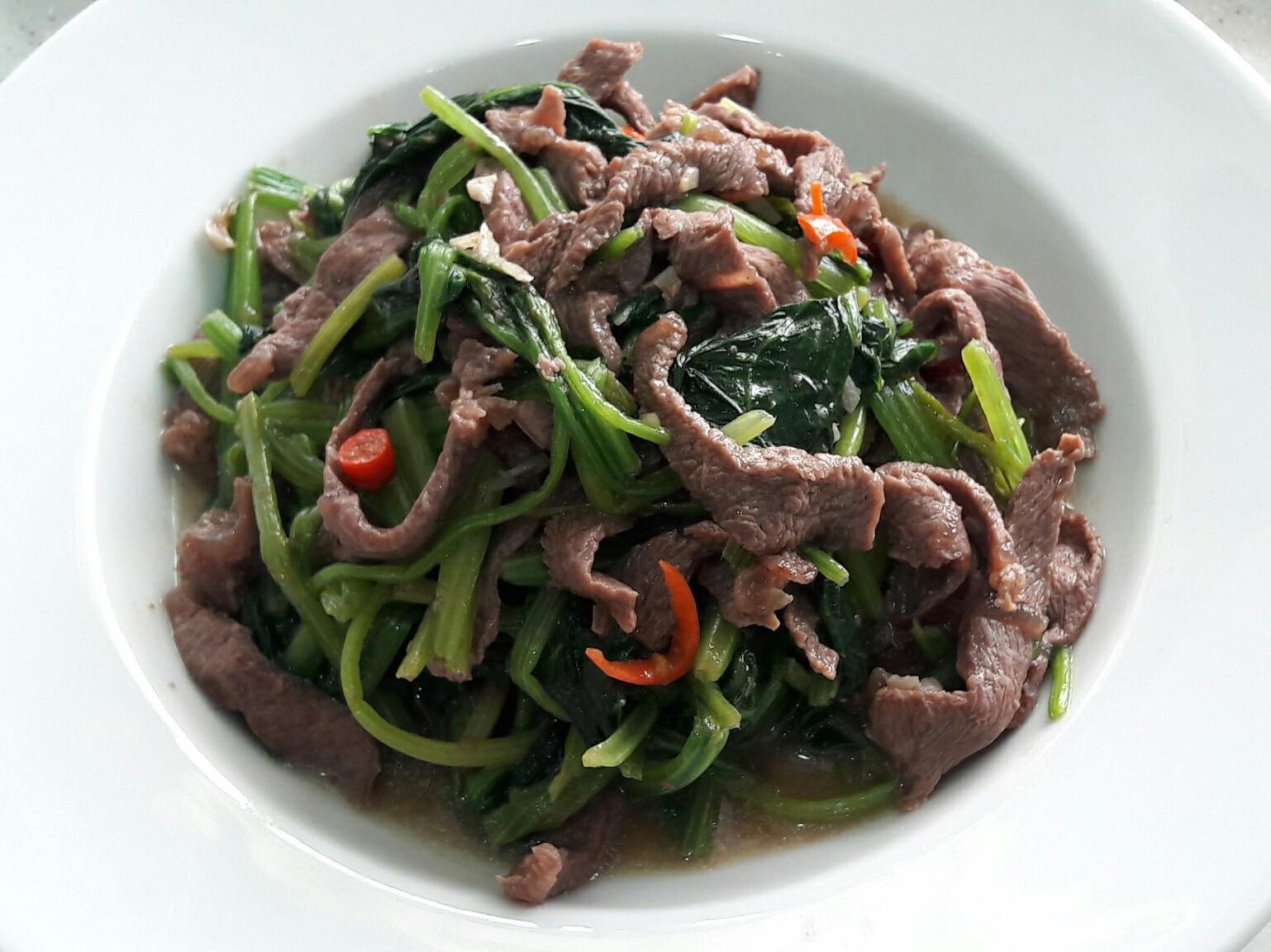 韓式燒肉醬牛肉炒菠菜 家常小炒