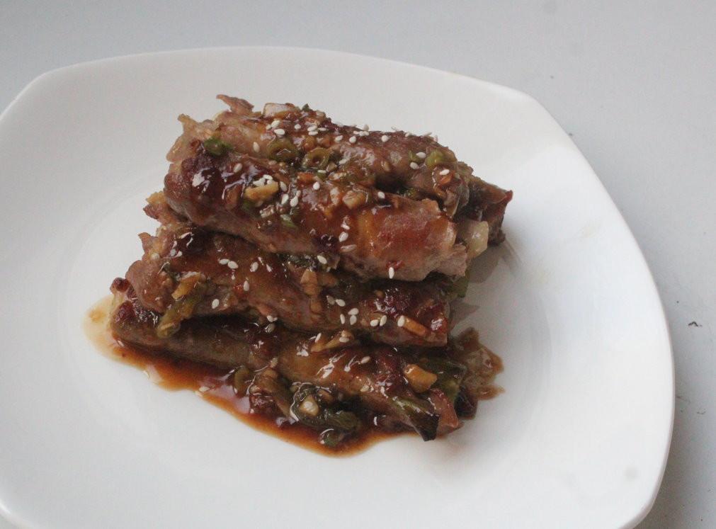 長蔥豚肉卷