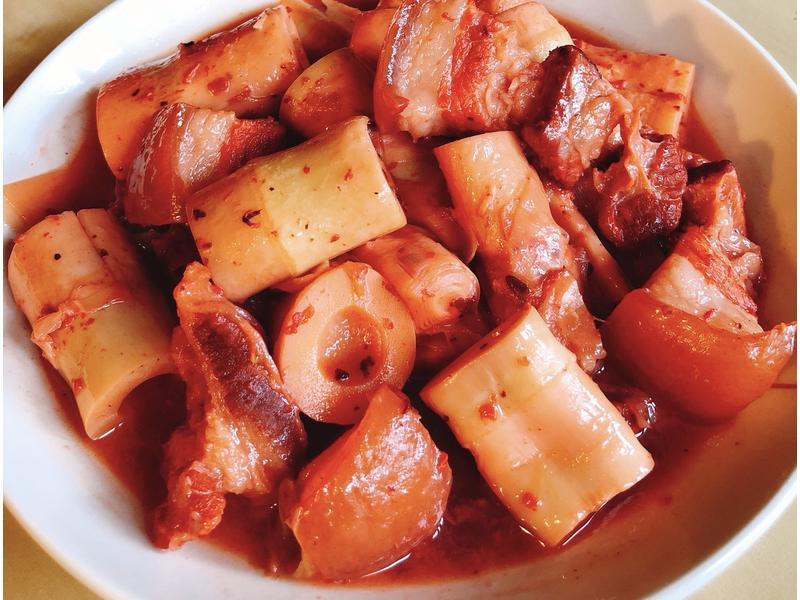 紅糟桂竹筍燒肉-手繪食譜