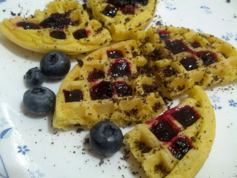 愛烹飪。藍莓果醬