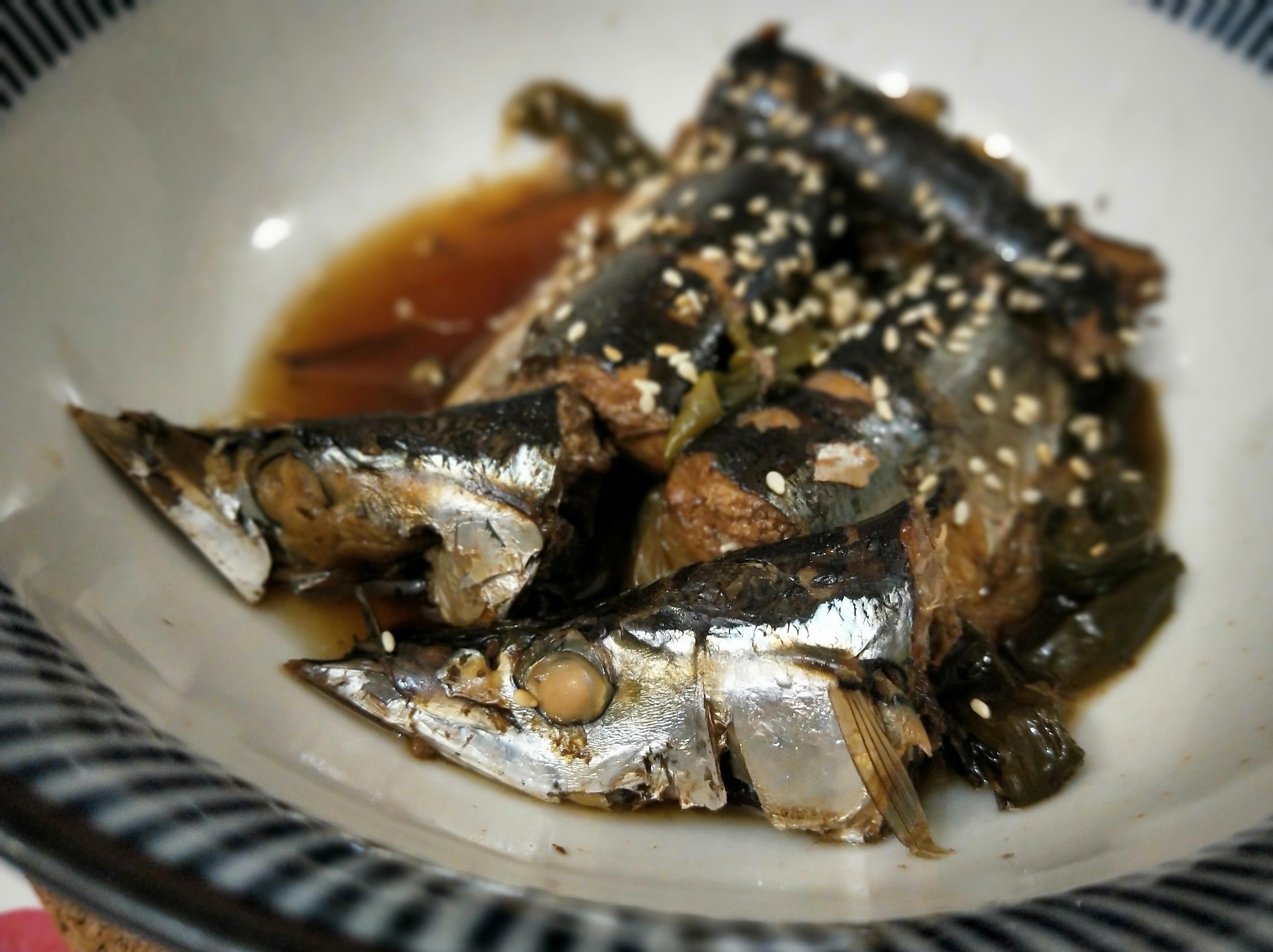 秋刀魚佃煮~無酒電鍋版,寶寶可吃