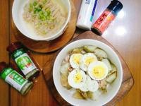 輕食料理-鮪魚香料馬鈴薯沙拉+麻油金針菇